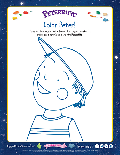 Peterrific Coloring Page | Pinkalicious Activities & Printables