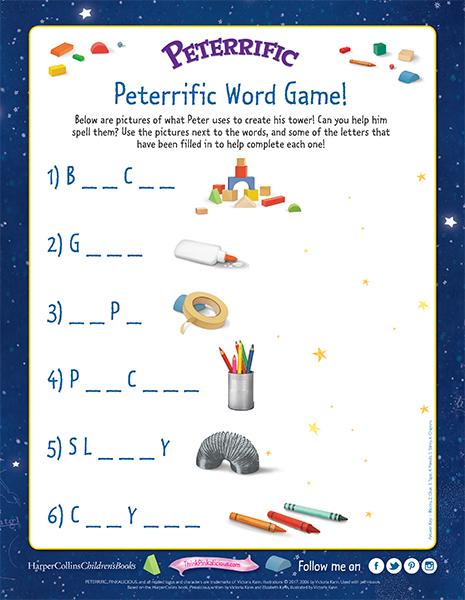 Peterrific Spelling Game