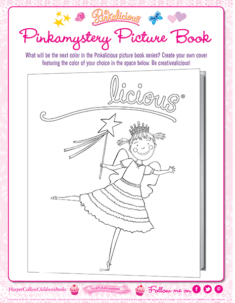 pinkamystery book cover coloring page pinkalicious activities printables pinkamystery book cover coloring page