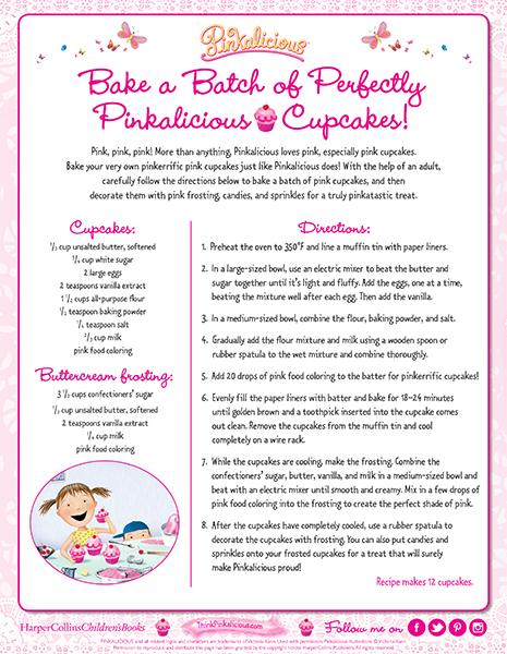 Perfectly Pinkalicious Cupcake Recipe