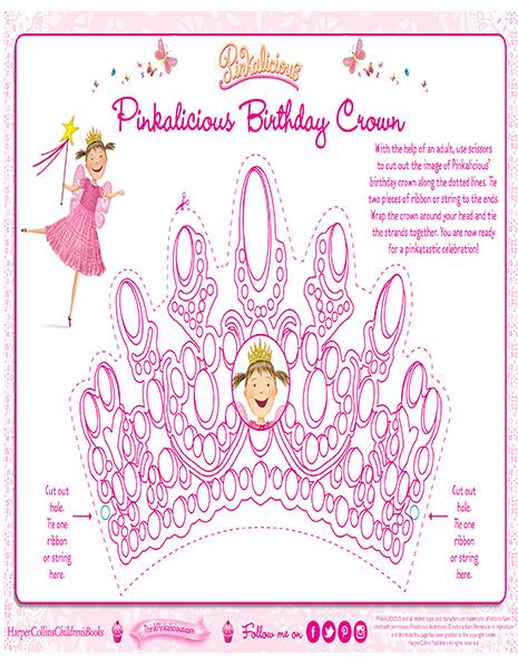 graphic regarding Printable Birthday Crown titled Pinkalicious Birthday Crown Coloring Webpage Pinkalicious