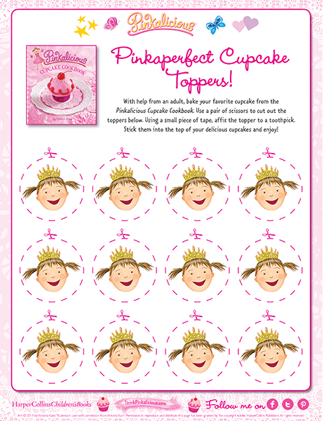 Pinkaperfect Cupcake Toppers!