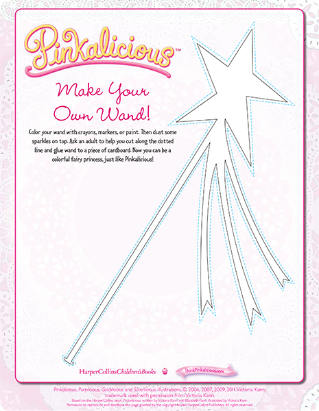 Make Your Own Wand Coloring Page