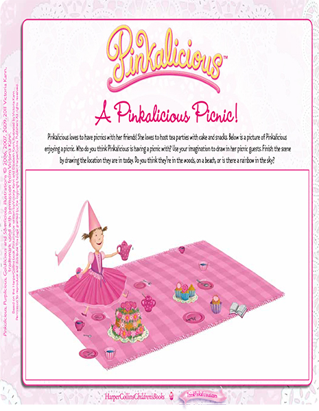picture about Free Printable Tea Party Games named Pinkalicious Video game Designs - Printables, Routines, Lesson