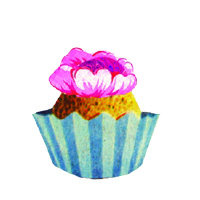 Icons 0007 Cupcake Blue